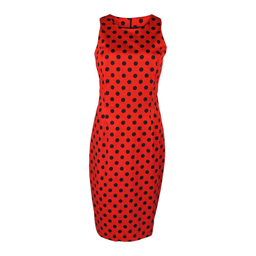 Longlady Longlady Dress Elena Red Spot