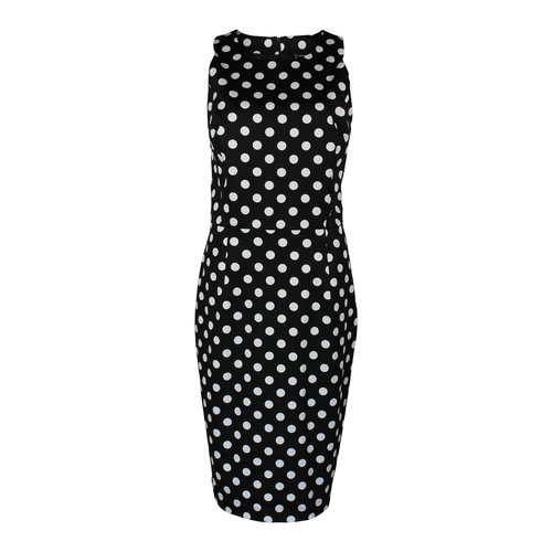 Longlady Longlady Dress Elena Black Spot