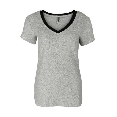 Longlady Longlady Shirt Tinie Jog Zilver