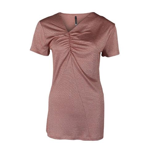 Longlady Longlady Shirt Tirza Oldpink Sparkle