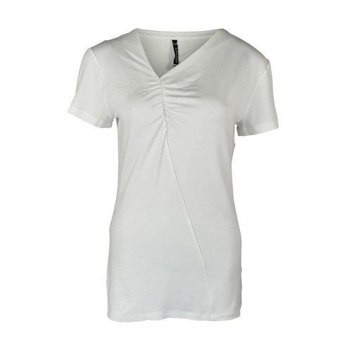Longlady Longlady Shirt Tirza Offwhite Sparkle