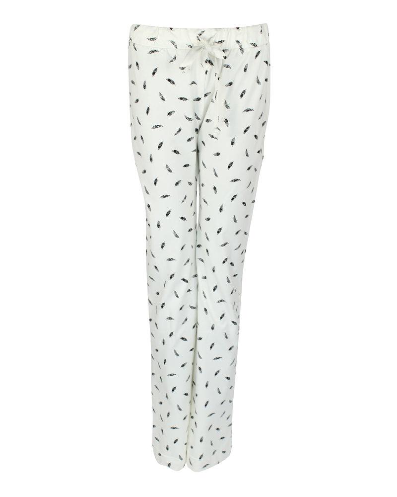 Longlady Pyjamabroek Paulien Offwhite Feather