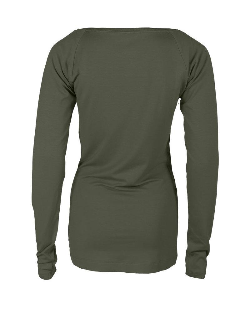 Longlady Shirt Theodora Khaki