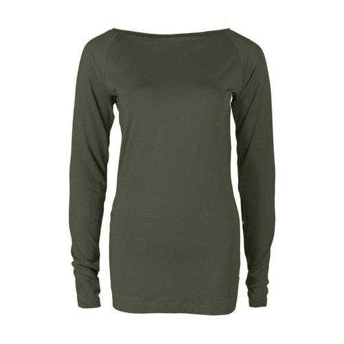 Longlady Longlady Shirt Theodora Khaki