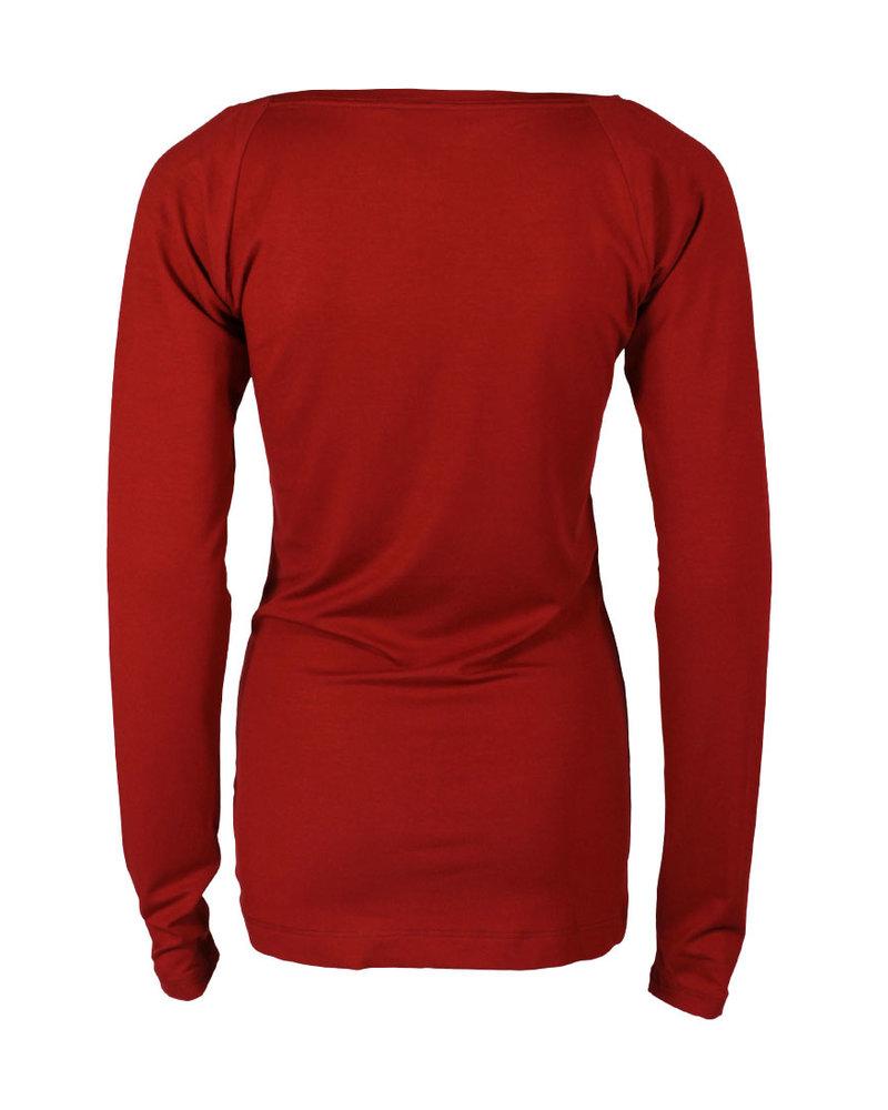 Longlady Shirt Theodora Rood