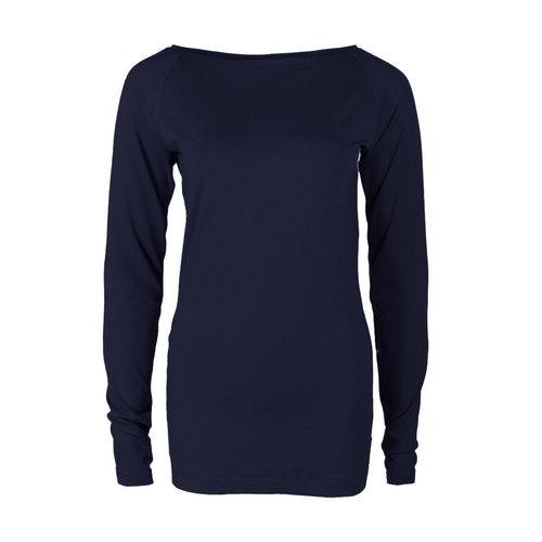 Longlady Longlady Shirt Theodora Donkerblauw