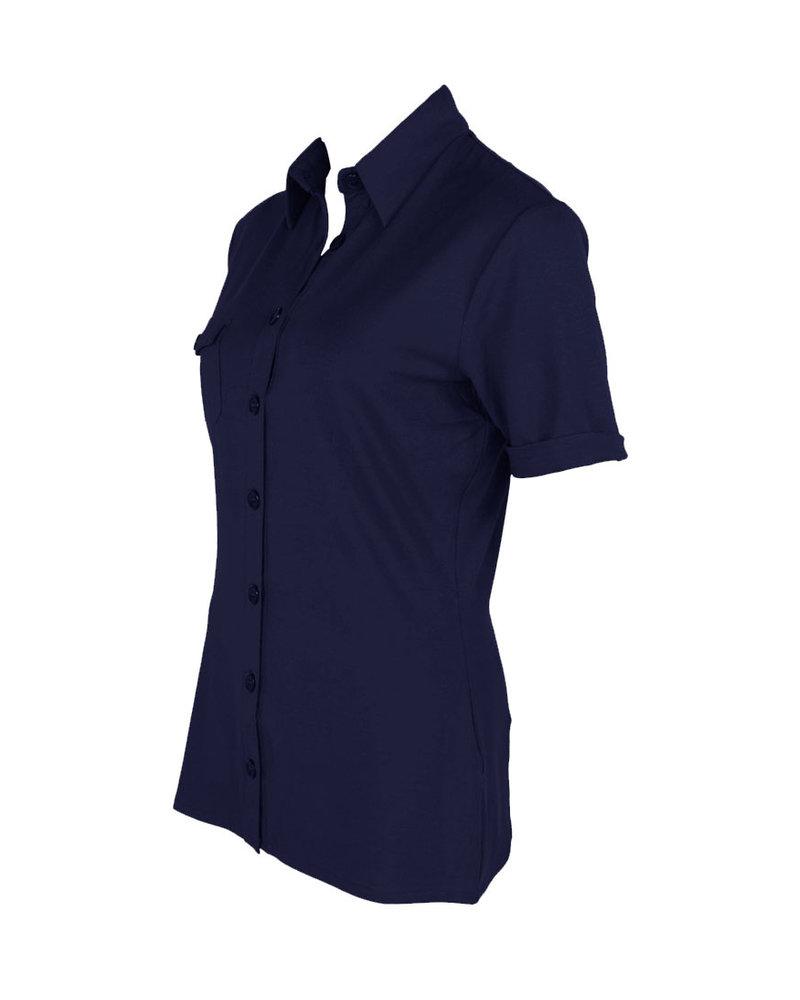 Longlady Shirt Danie Darkblue