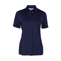 Longlady Shirt Danie Donkerblauw