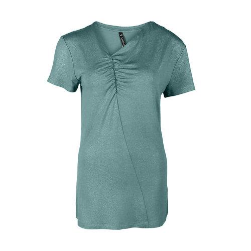 Longlady Longlady Shirt Tirza Aqua Sparkle