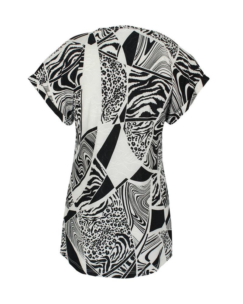 Longlady Shirt Tracy Black Dessin