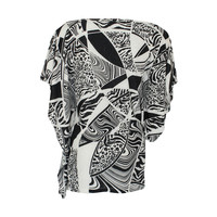 Longlady Shirt Tony Black Dessin