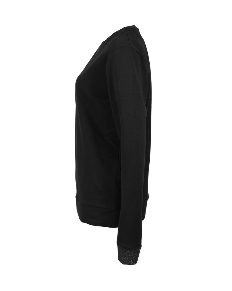 Longlady Sweater Fien Zwart