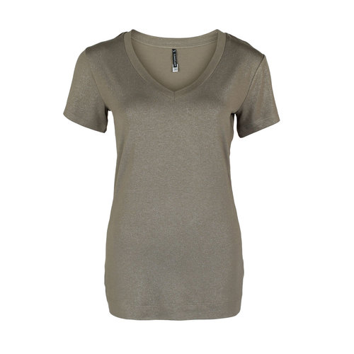 Longlady Longlady Shirt Tinie Taupe Sparkle