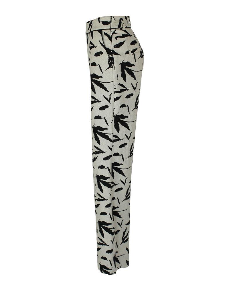 LongLady Trousers Nadiene Creme Blad