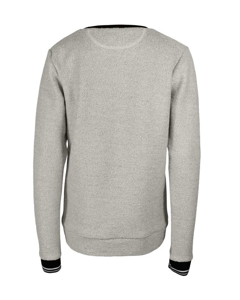 Longlady Sweater Fien Silver