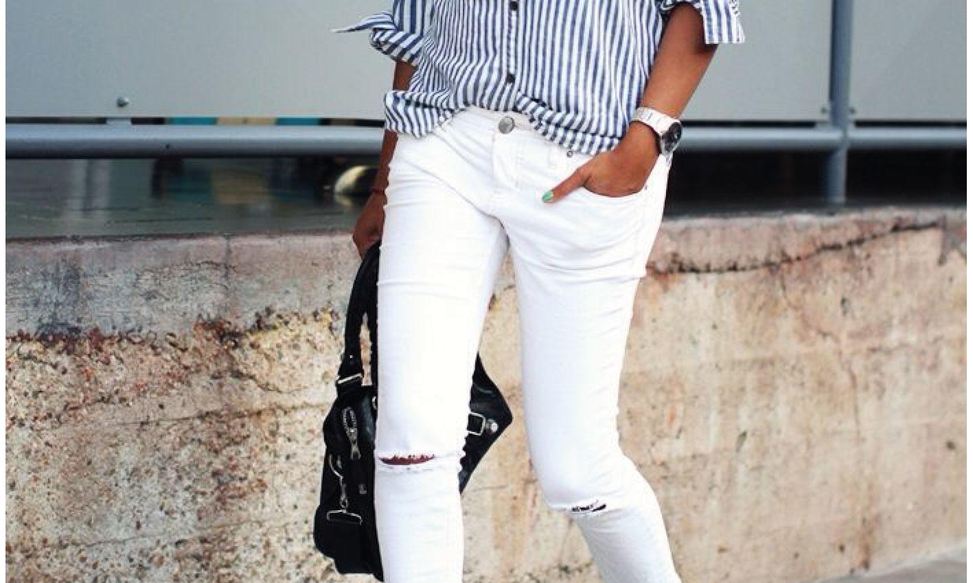 Witte jeans, zó draag je hem zonder problemen