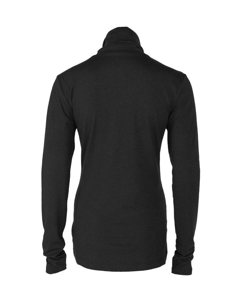 Longlady Shirt Trinca Zwart