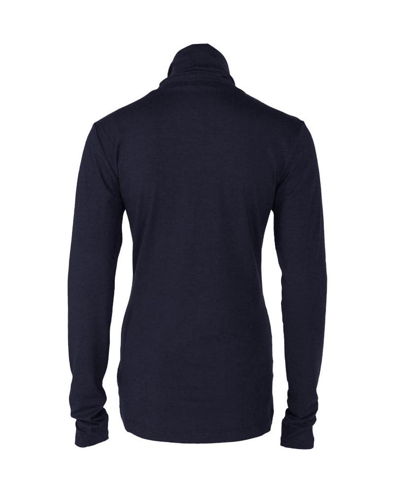 Longlady Shirt Trinca Donkerblauw