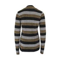 Longlady Sweater Tammy Khaki Stripes