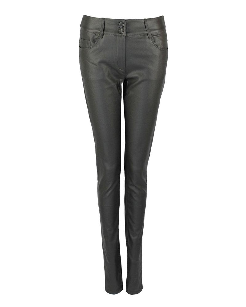 LongLady Trousers Nathalia Coated Grey