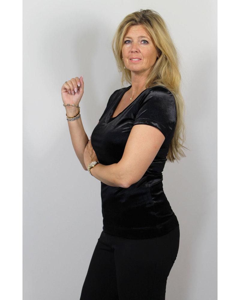Longlady Shirt Tani Black