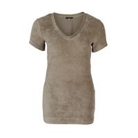 Longlady Shirt Tani Rib Beige