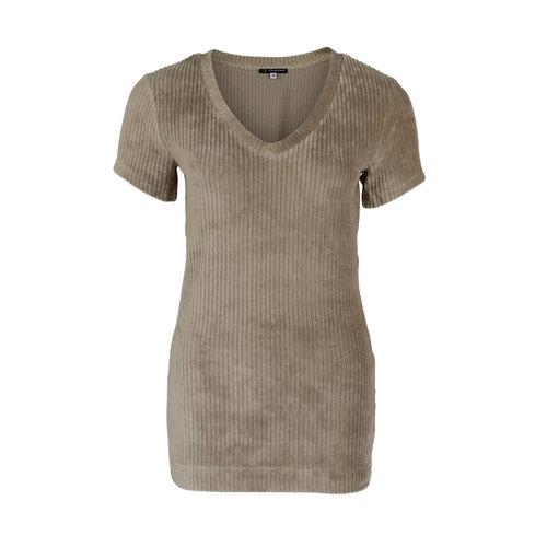 Longlady Longlady Shirt Tani Rib Beige