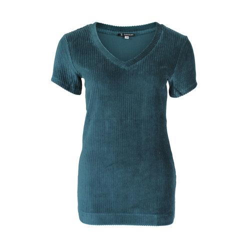 Longlady Longlady Shirt Tani Rib Petrol