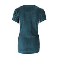 Longlady Shirt Tiene Rib Petrol