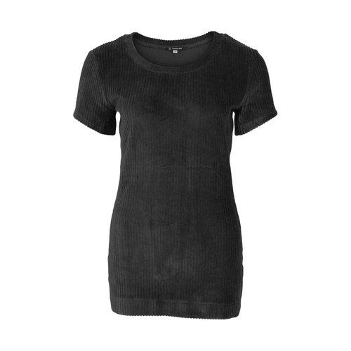 Longlady Longlady Shirt Tiene Rib Zwart