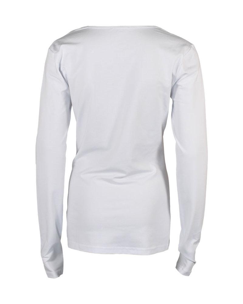 Longlady Shirt Trudy Wit