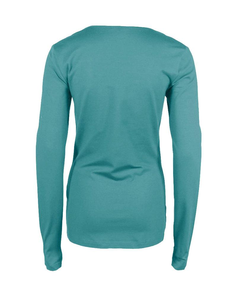 Longlady Shirt Trudy Dustygroen