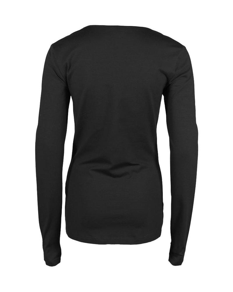 Longlady Shirt Trudy Zwart