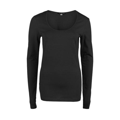 Longlady Longlady Shirt Trudy Zwart