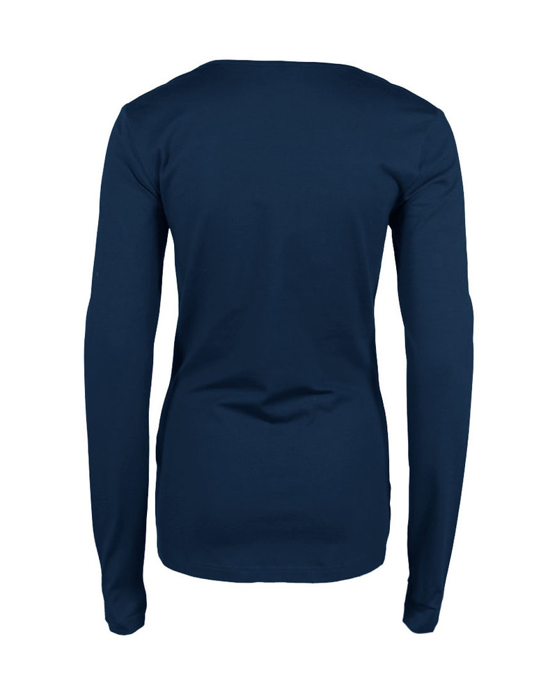 Longlady Shirt Trudy Blauw