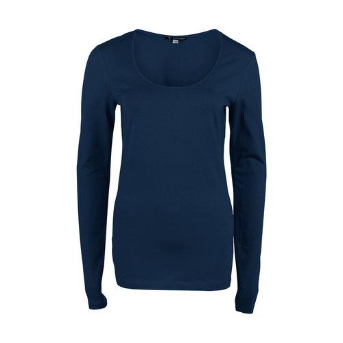 Longlady Longlady Shirt Trudy Blauw