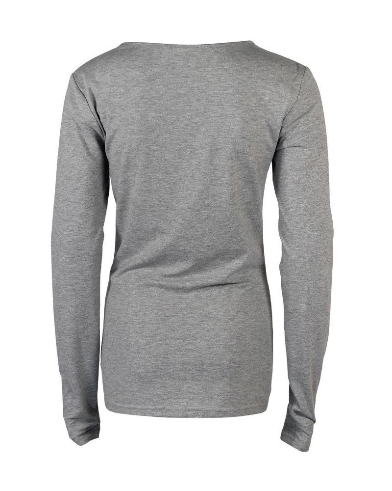 Longlady Shirt Trudy Grey