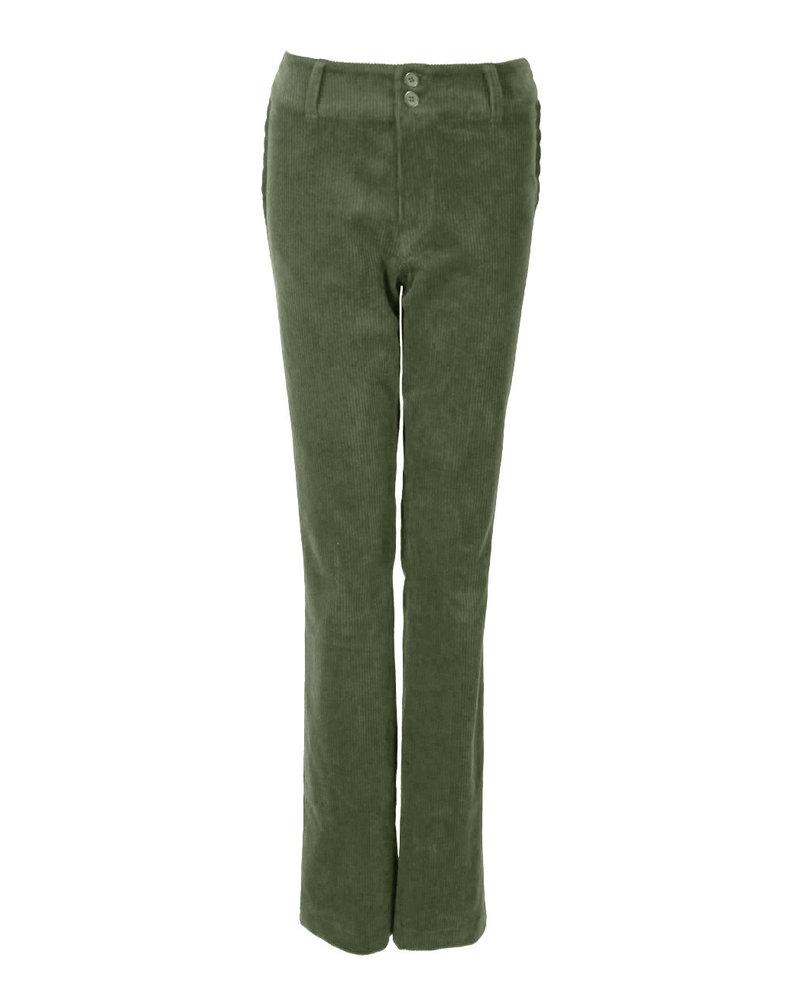 LongLady Trousers Breena Cord Khaki