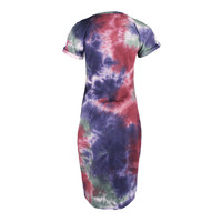Longlady Dress Anka Tiedye Lila