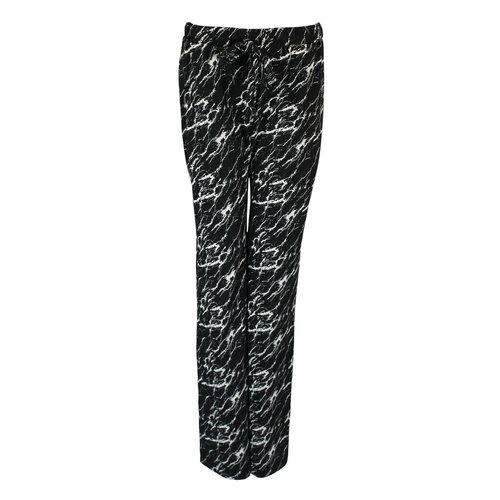 Longlady Longlady Pajama pants Paulien Marble Black