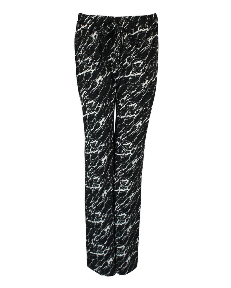 Longlady Pajama pants Paulien Marble Black