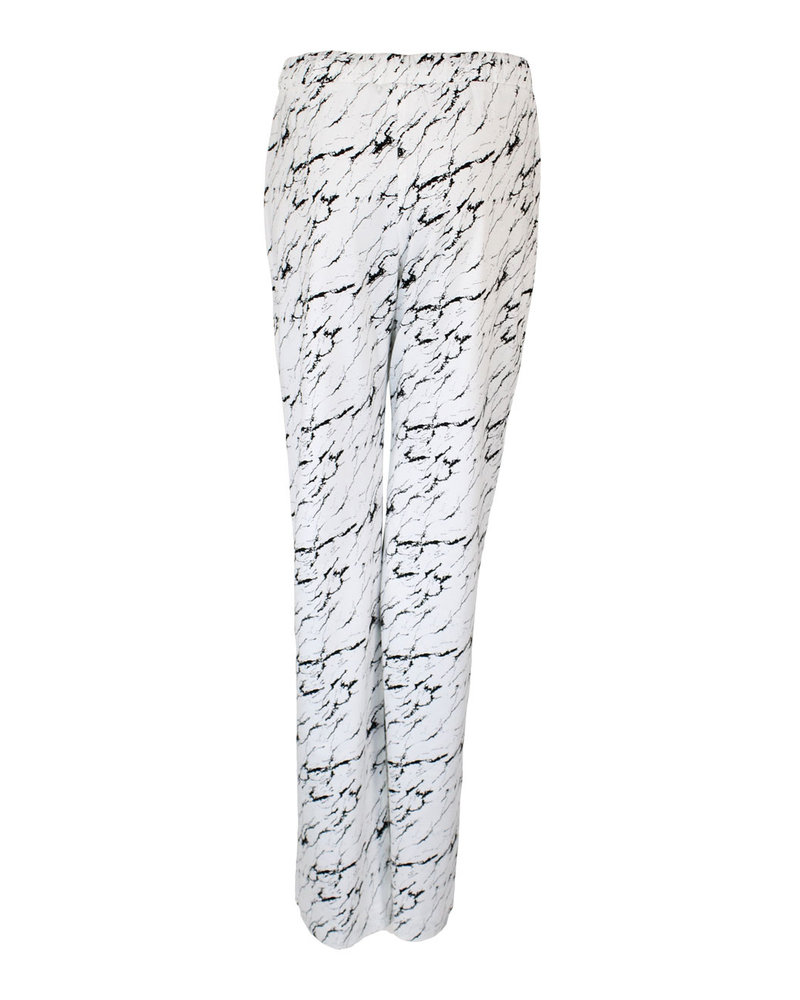 Longlady Pajama pants Paulien Marble White