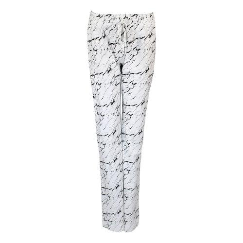 Longlady Longlady Pajama pants Paulien Marble White
