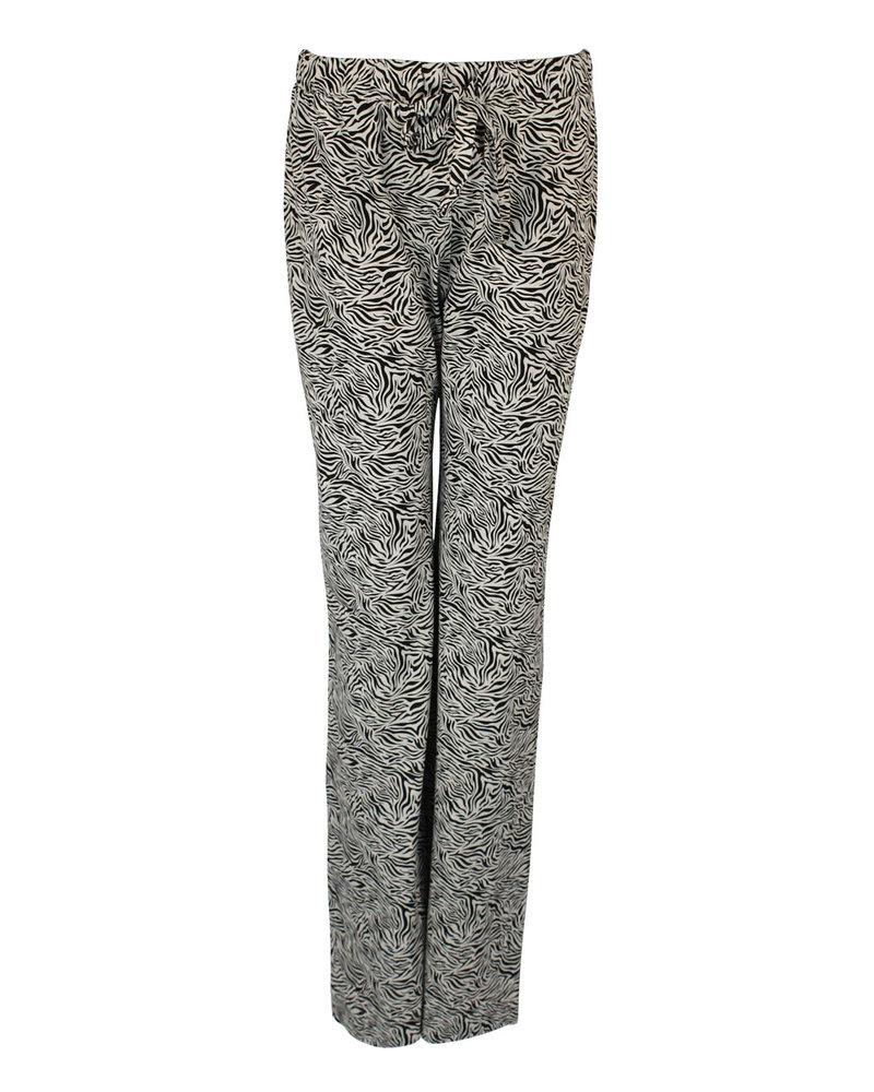 Longlady Pyjamabroek Paulien Zebra Beige