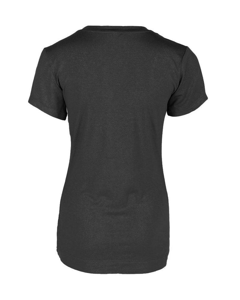 Longlady Shirt Tinie Black Sparkle