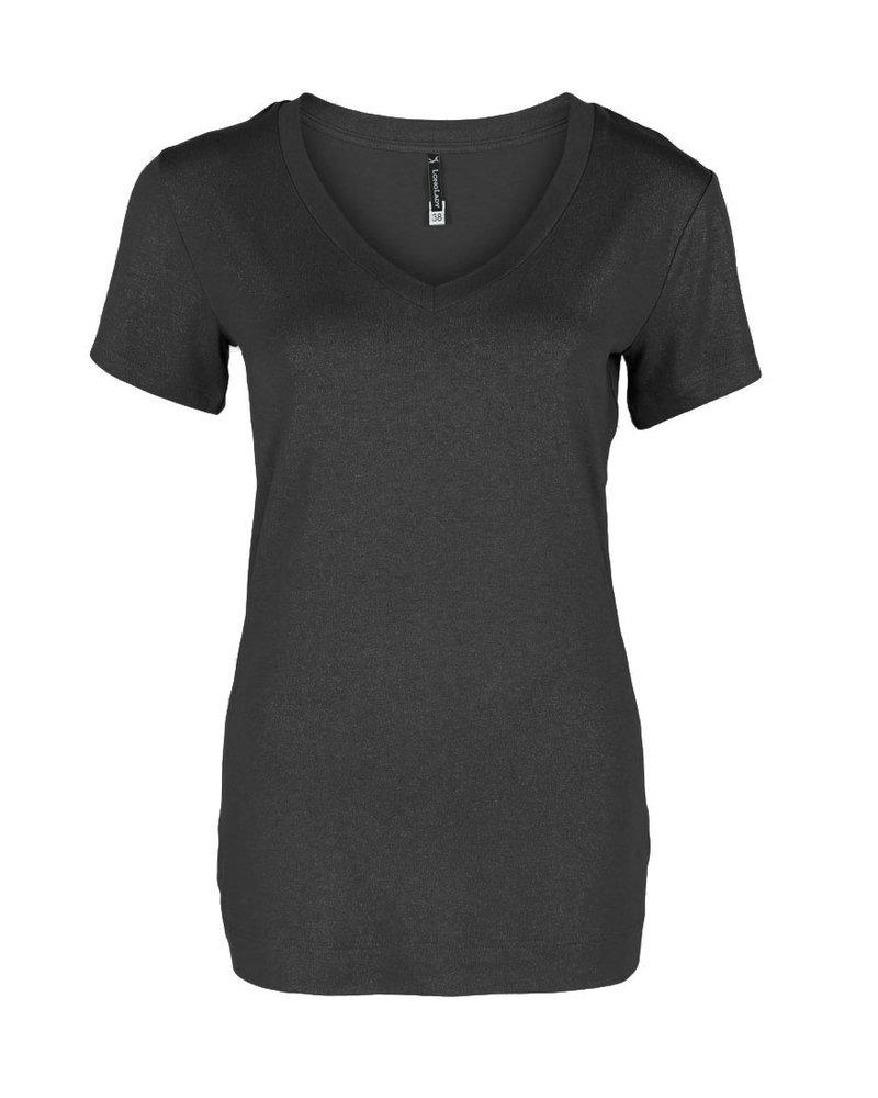 Longlady Shirt Tinie Zwart Sparkle