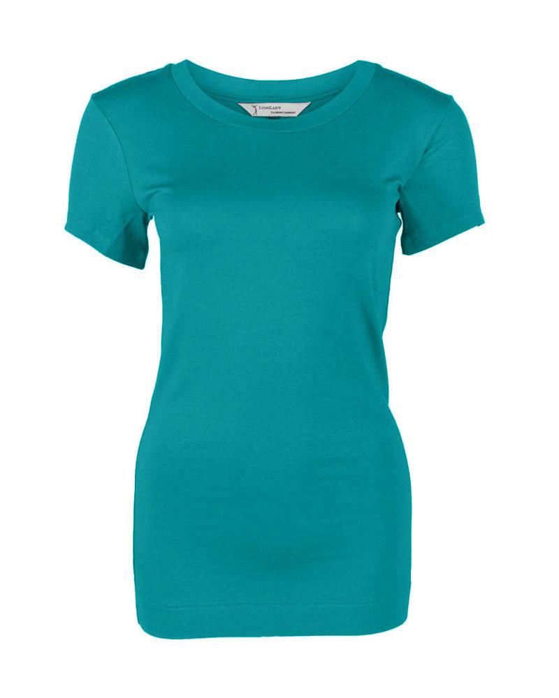 Longlady Shirt Trinka Aqua