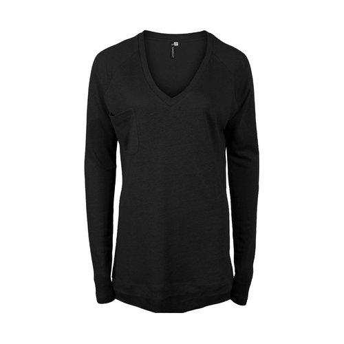 Longlady Longlady Sweater Floran Linen Black