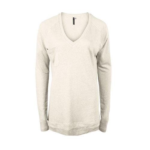 Longlady Longlady Sweater Floran Linen Creme