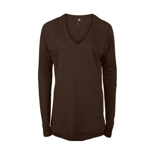 Longlady Longlady Sweater Floran Linen Brown